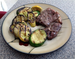 Lamb Shoulder Chop with grilled Zucchini