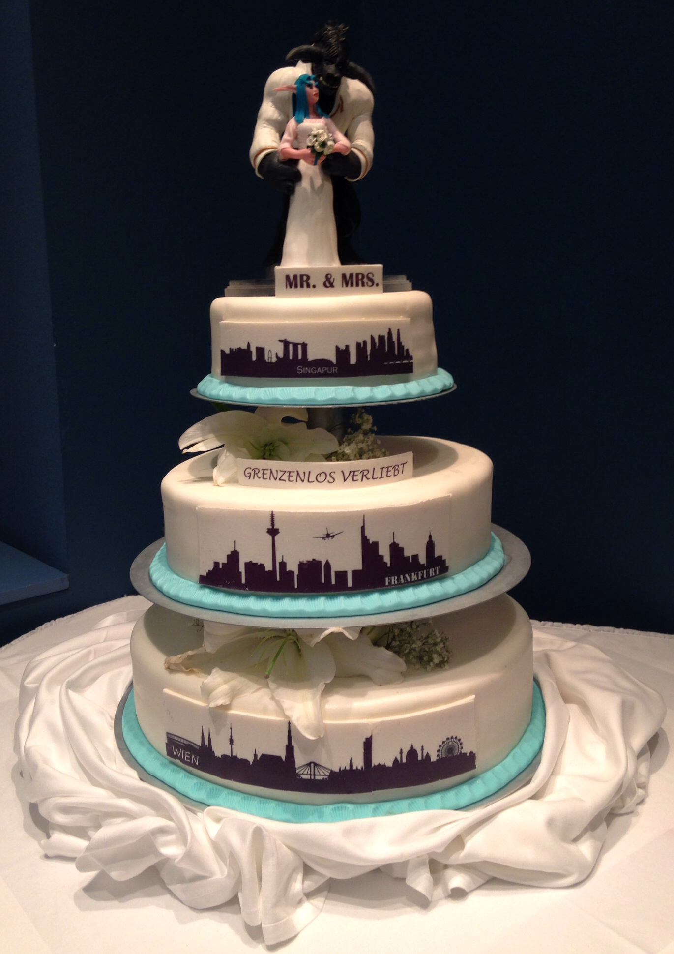 And Finally…..the Wedding Cake!