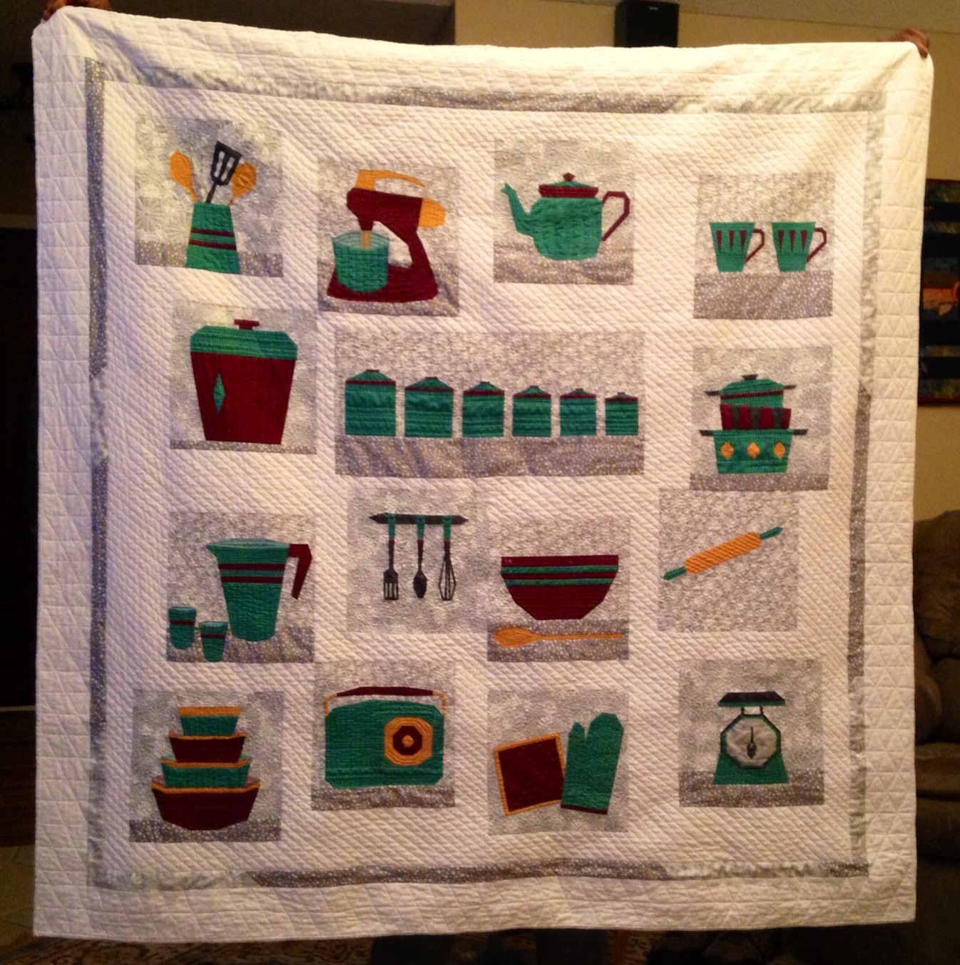 The kitchen quilt patchwork pastry for Kitchen quilting ideas
